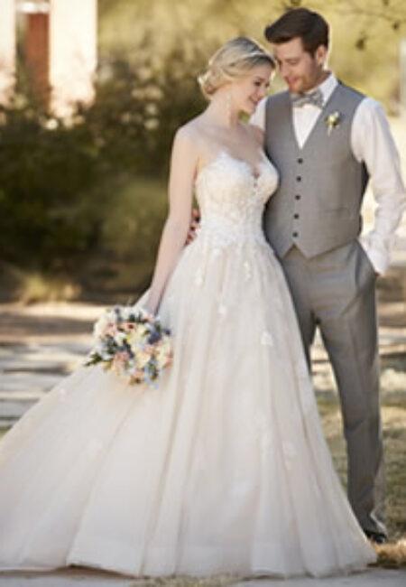 Essense of Australia Style, Brautpaar, Kleid mit Spitze