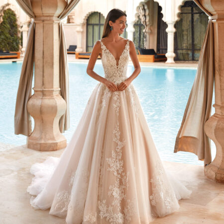 Demetrios, Brautkleid, A-Linie, Tüll, Hochzeitskleid, Braut