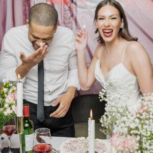 A-Linie, Party, Braut, Bräutigam, Hochzeitstorte, Spaß