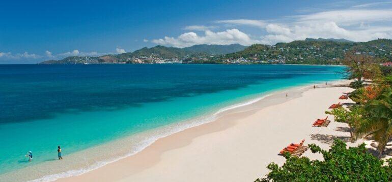 Grenada, Meer, Sandstrand, Karibik, Flitterwochen, Urlaub