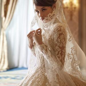 Brautkleid, Demetrios, Kleid mit Schleier