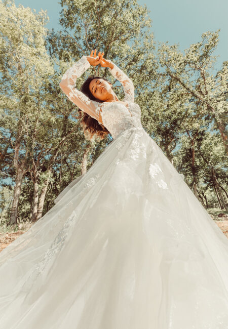 Kleid, Essense of Australia, Style D3274, lange Ärmel, Spitze