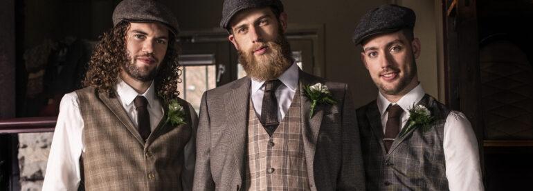Bräutigam, Gruppenfoto, Anzug